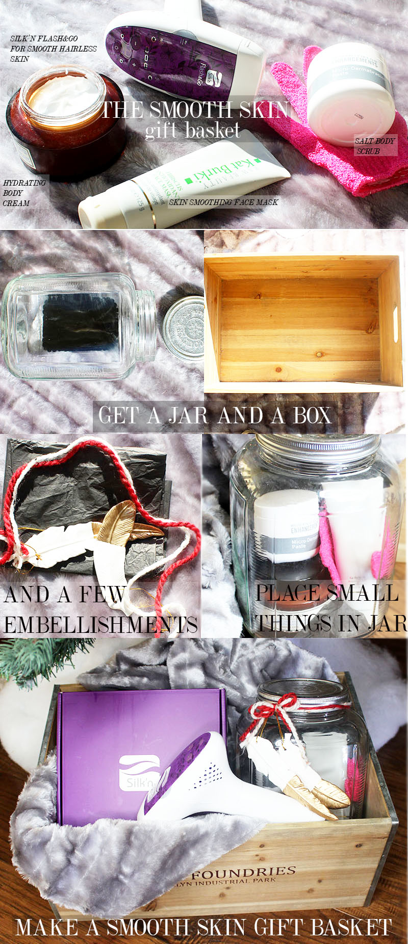create this easy spa gift basket idea for soft and smooth skin