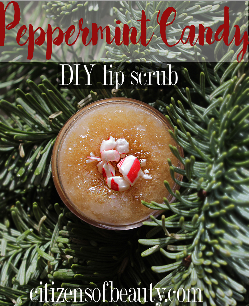 Try this simple DIY Peppermint Candy Lip Scrub recipe. It makes the perfect last minute gift.