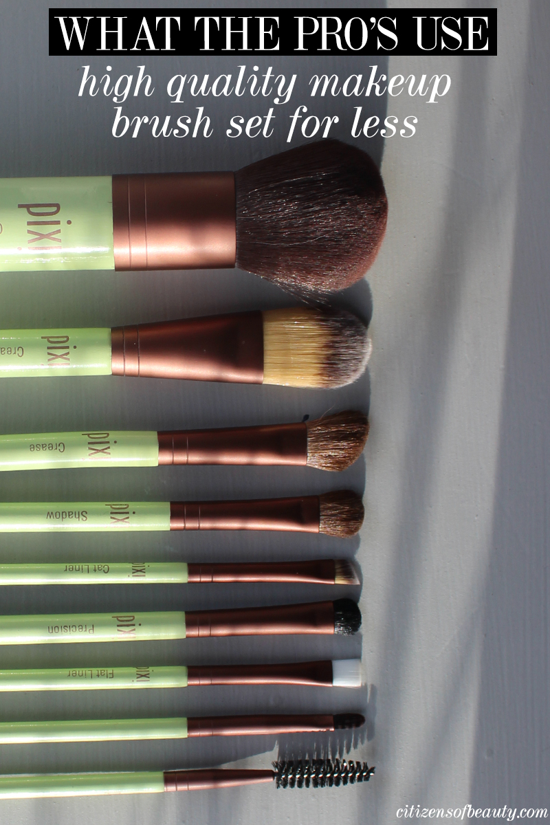 Get this high quality makeup brush set from Pixi for only $49.00
