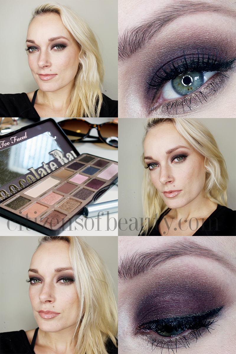 dark eyes makeup tutoiral featuring the Too Faced Chocolate Bar Palette
