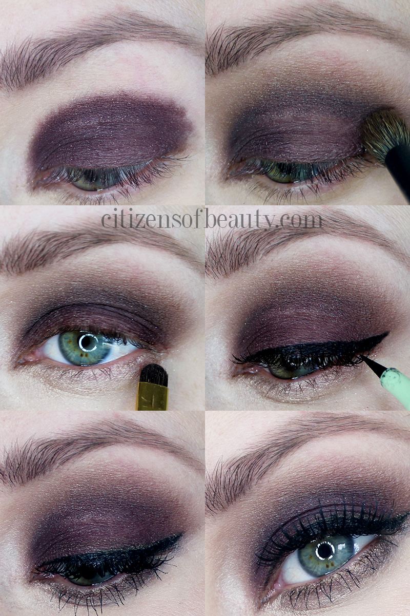 gorgeous dark and smoky eye makeup design with thick wing liner and false lashes