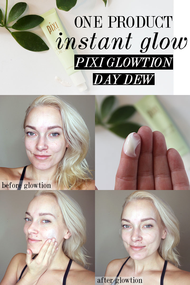 how to use PIXI glowtion day dew