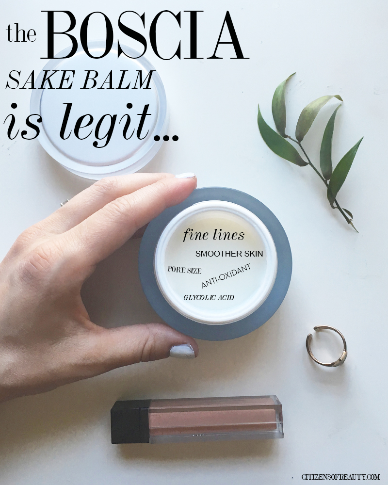BOSCIA  Sake Balm for fine lines, wrinkles, and smaller pore size