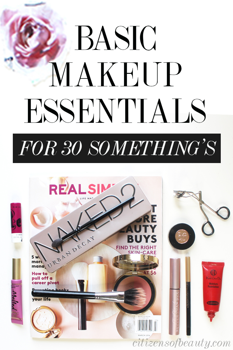 best basic makeup essentials for women in their 30's