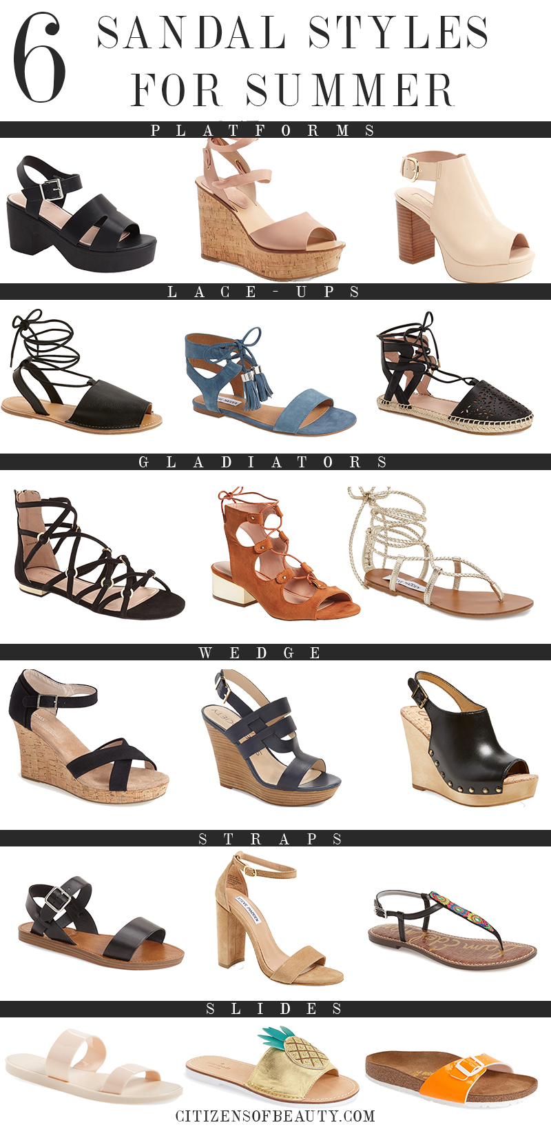 best sandal styles for summer 2016