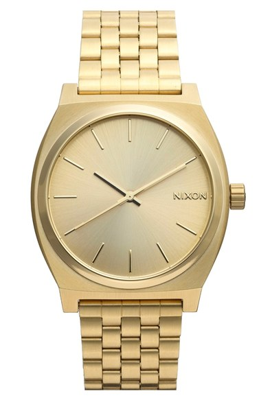 Fathers Day Gift Guide Nixon Gold Watch