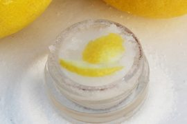 DIY lemon drop lip scrub