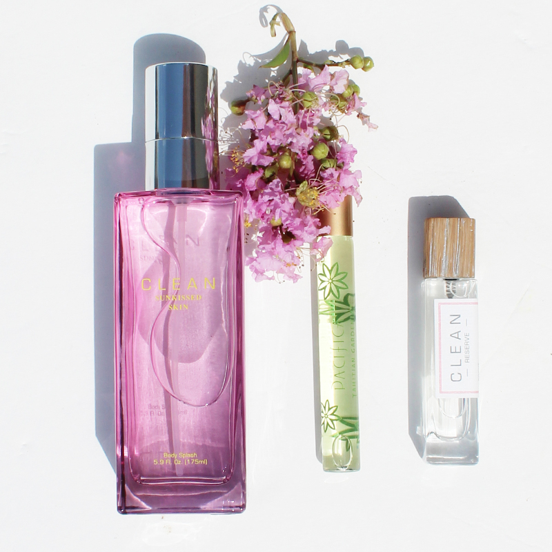 Floral scented summer fragrance essentials