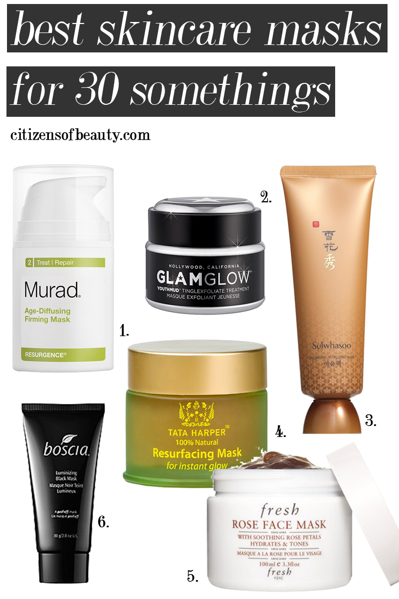 best skincare masks for 30 somethings