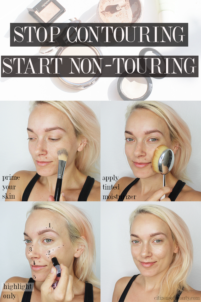 how to do non-touring makeup trend