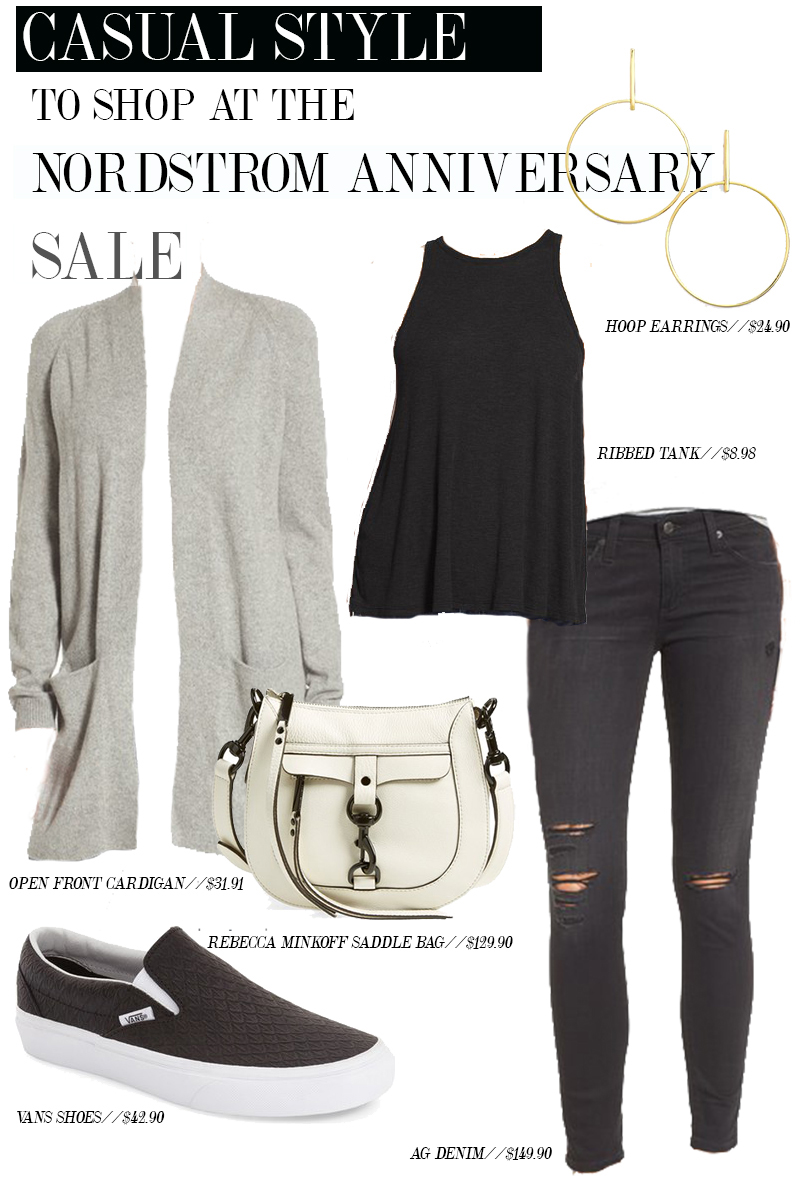 Get this easy comfortable and stylish outfit from the Nordstrom Anniversary Sale 2016. Those VANS shoes are basically everything.