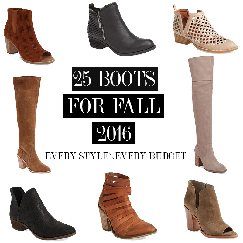 25 boots for fall 2016. Find one in any style and for every budget!