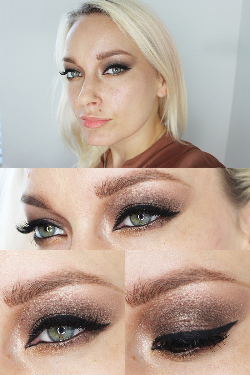 Gorgeous brown eye makeup look for fall