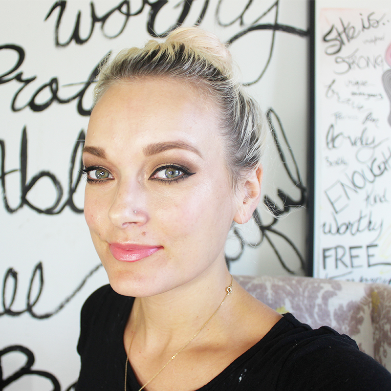 special occasion makeup look with bold eyeliner.