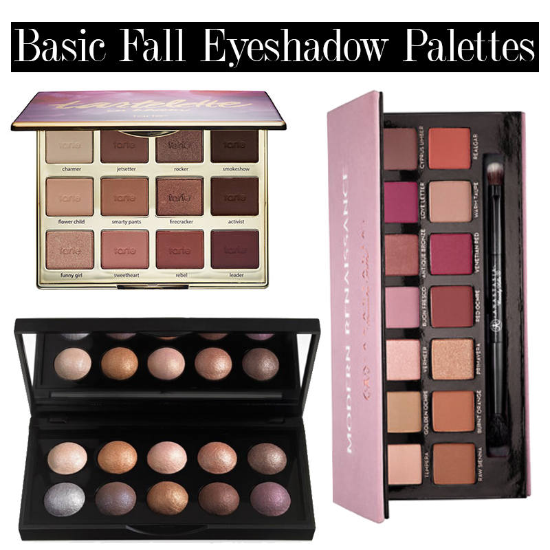 transition to fall makeup with these eyeshadow palettes