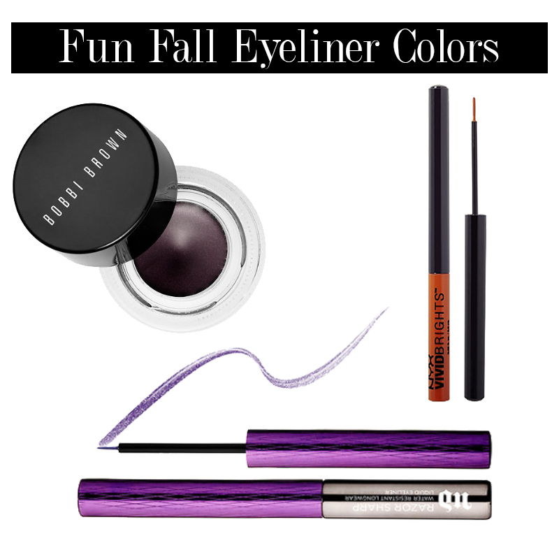 transition to fall makeup with these fall eyeliner colors