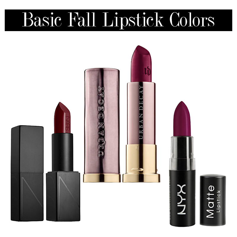 transition to fall makeup with these fall lipstick colors