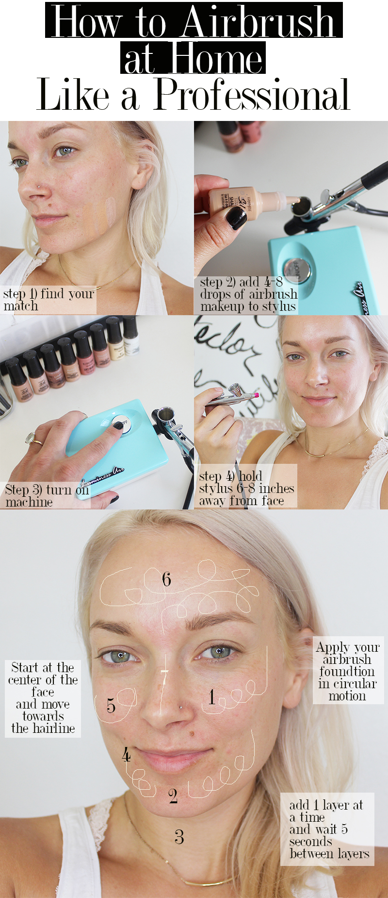 How to airbrush makeup at home for beginners