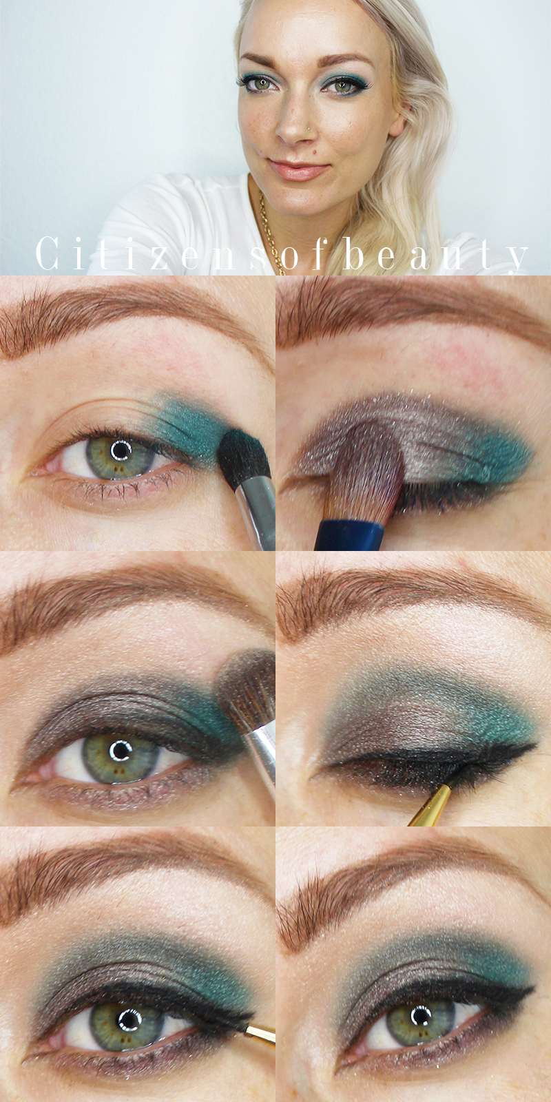 Get this Metallic Eyeshadow look for fall using metallic blue!