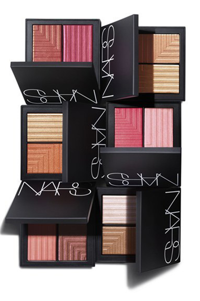 Get the NARS Dual Intensity Blush for you makeup bag! They can be worn both wet or dry for the perfect glow with a pop of color.