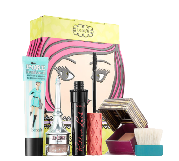 The Benefits Cosmetics Sassy Lassie holiday makeup set is awesome! Check out everything you get.
