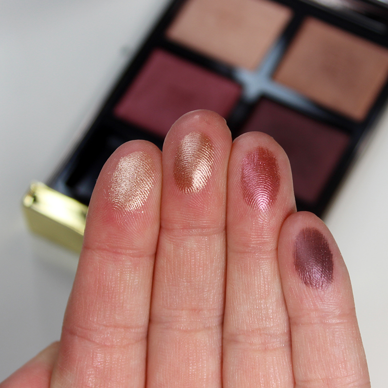 Check out the swatches of this Tom Ford Eyeshadow Quad in Honeymoon! It's absolutely breath taking.