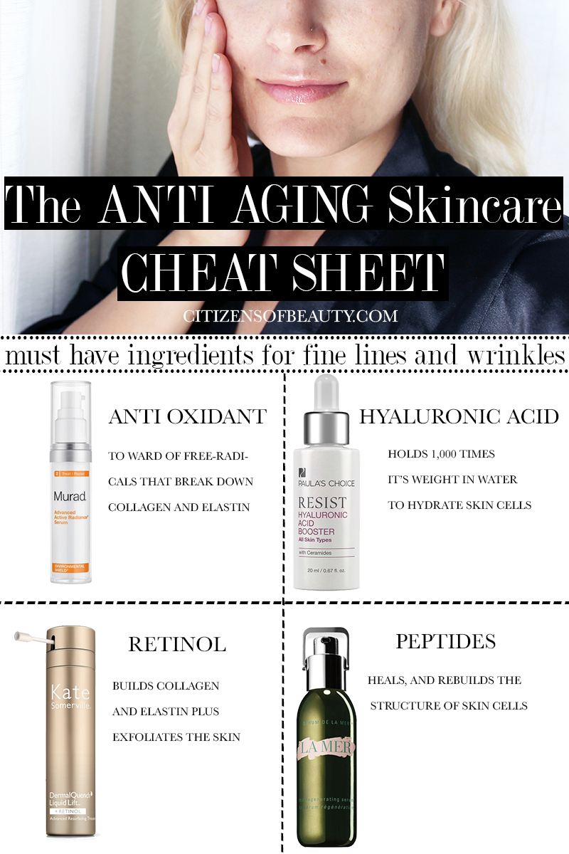 anti aging ingredients Here's what to look for (and what to avoid) in an anti-aging product to get something that actually works.