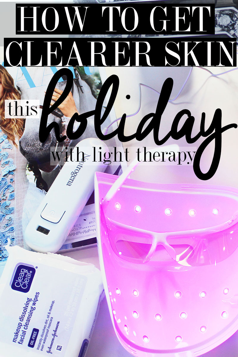 Get clearer skin this holiday with at home light therapy for acne and blemishes.
