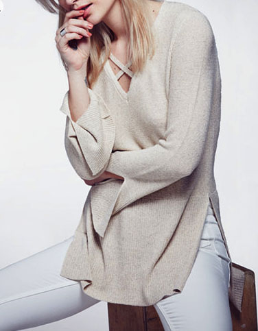 Check out this cute free people sweater at macy's right now for cyber monday!