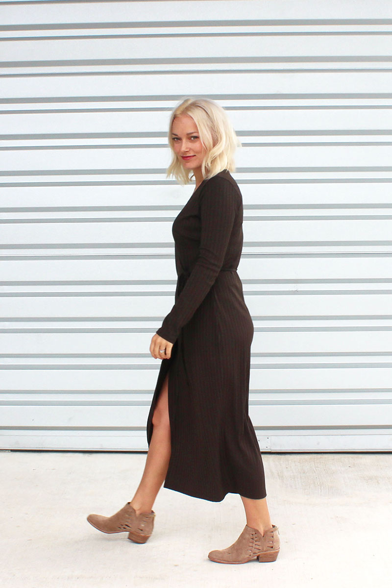 How to stle a wrap dress for fall and winter