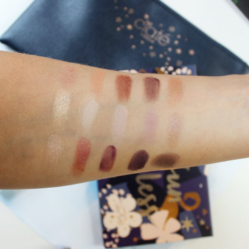 swatches and review of the chloe morello ciate london holiday makeup set 2016
