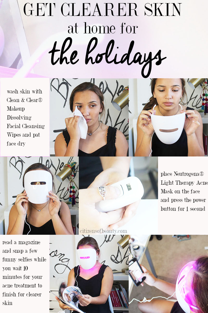 The holidays are coming and here is a way to get clearer skin with acne fighting light therapy