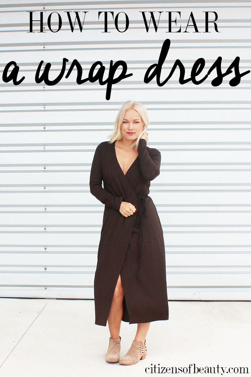 How To Wear A Wrap Dress For Fall And Winter