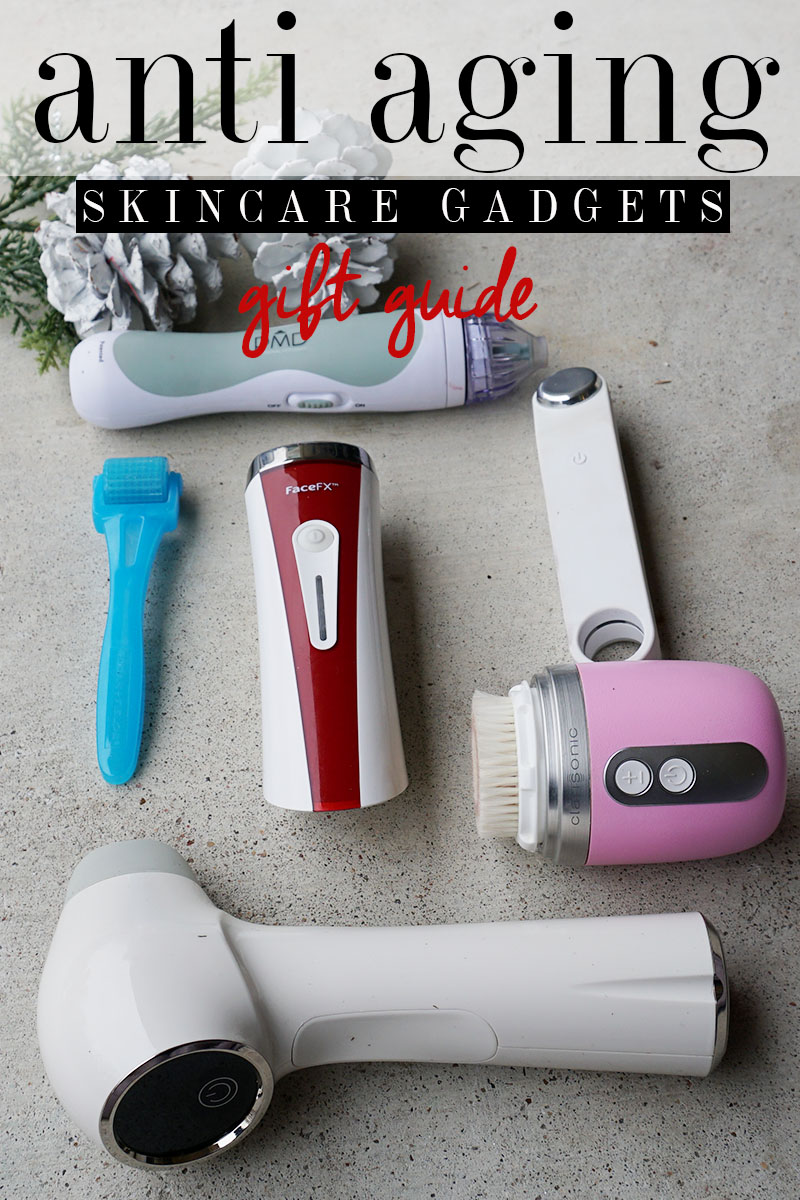 anti aging skincare gadget gift guide with favorites like Clarisonic, Silk'n, PMD, Contour Kinetic, skincare roller and more with beauty and lifestyle blogger, Kendra Stanton