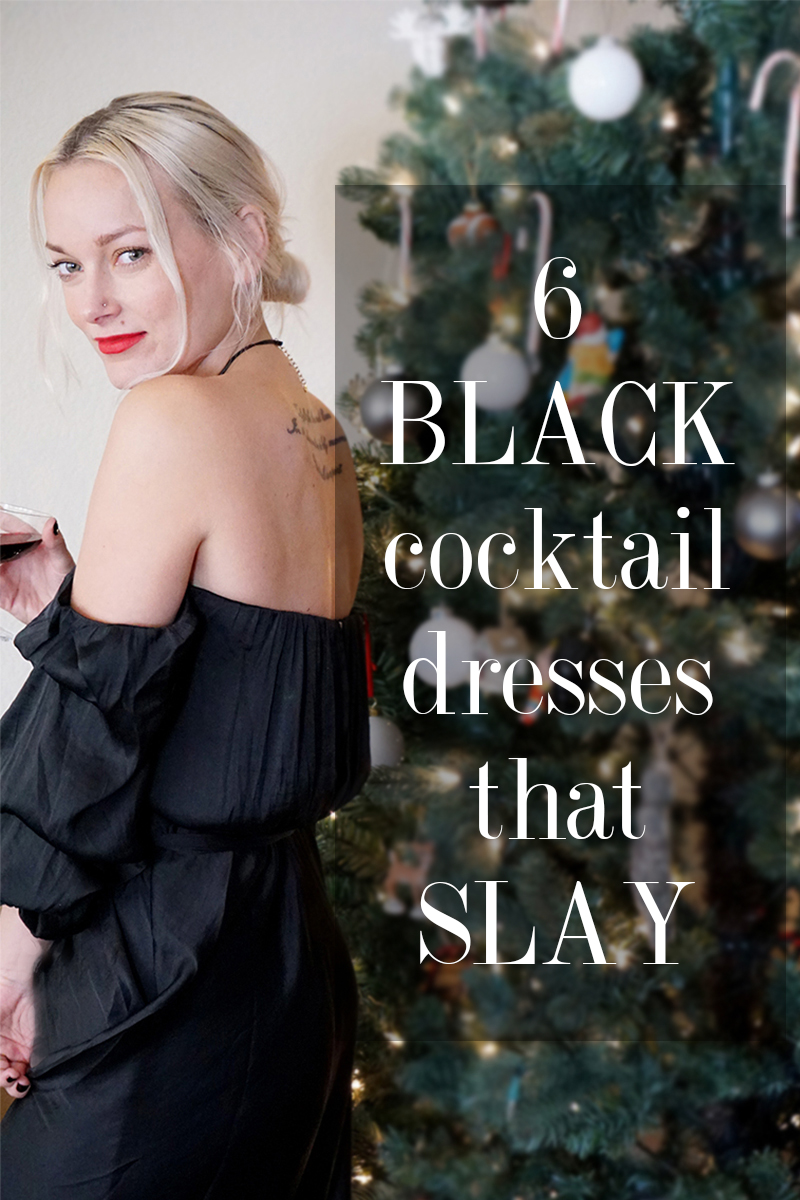 Try these 6 black cocktail dresses for NYE that slay