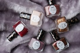 Get this cute holiday snow globe with 6 wearable nail polish shades