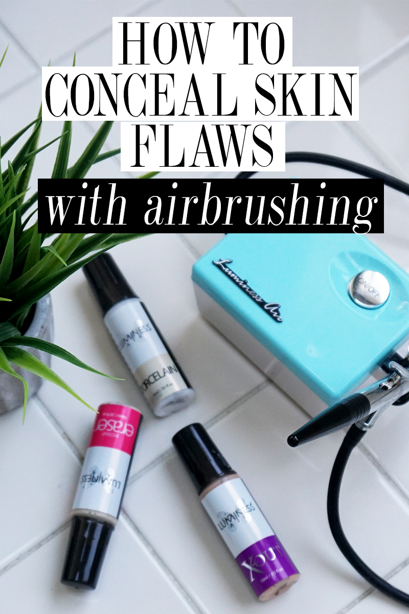 How to Conceal skin flaws and blemishes with airbrush makeup