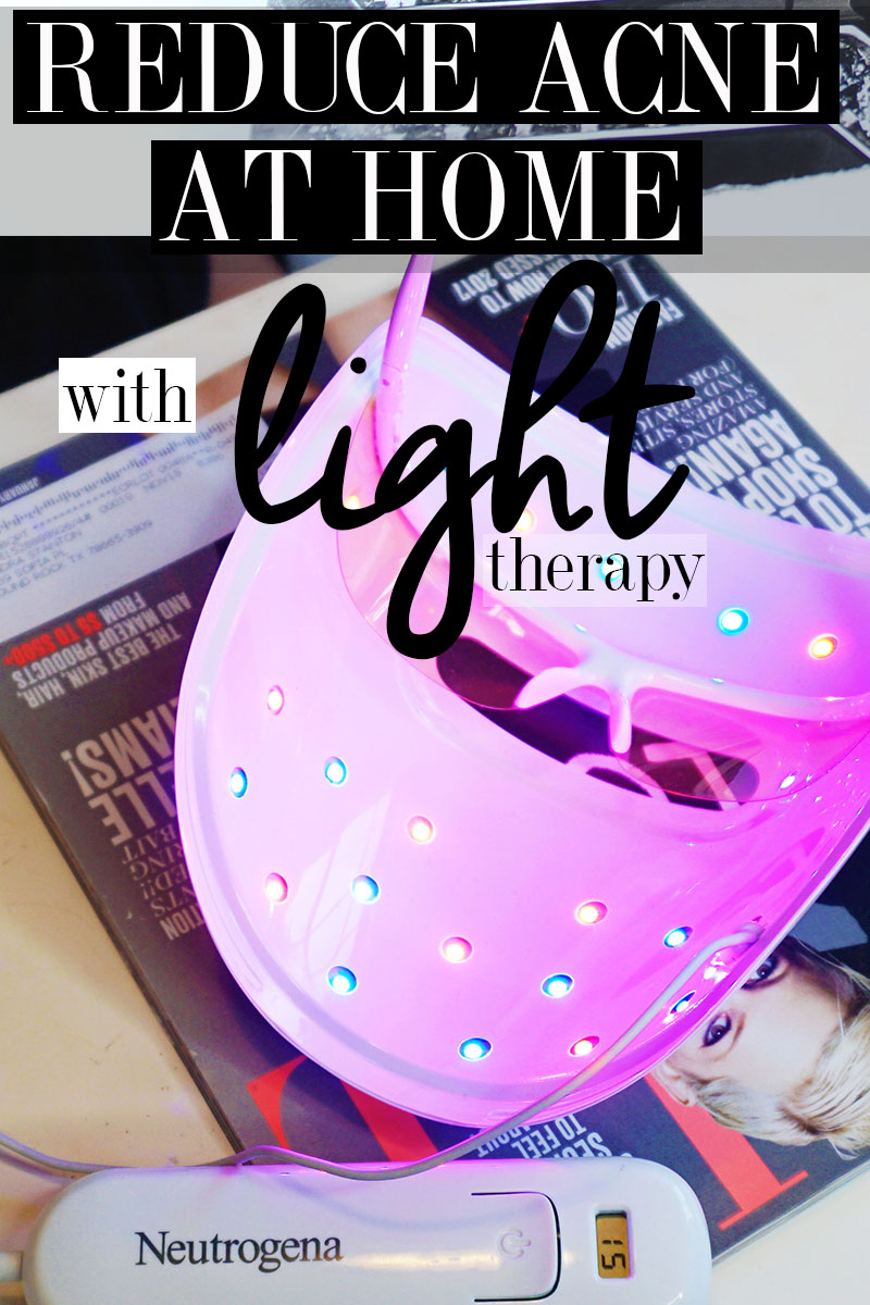 How to reduce acne at home with light therapy