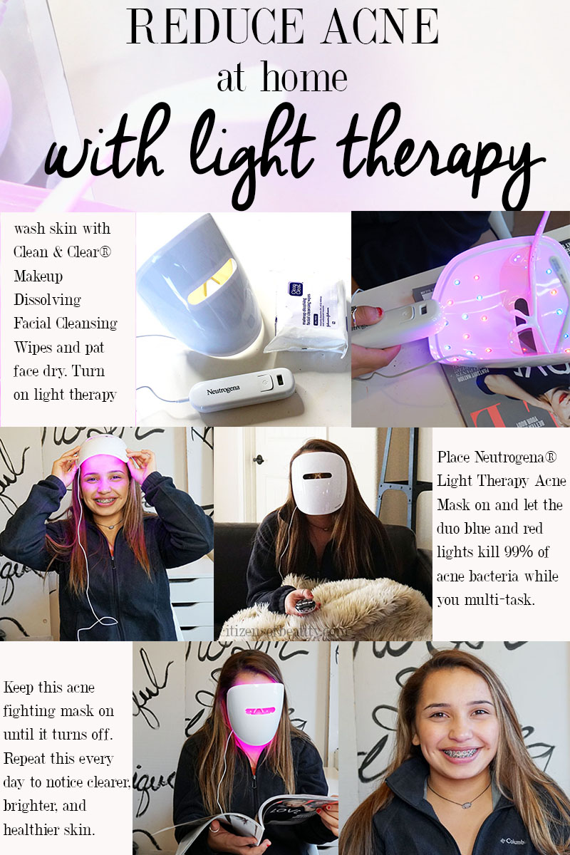 How to use red and blue light therapy to reduce acne and blemishes
