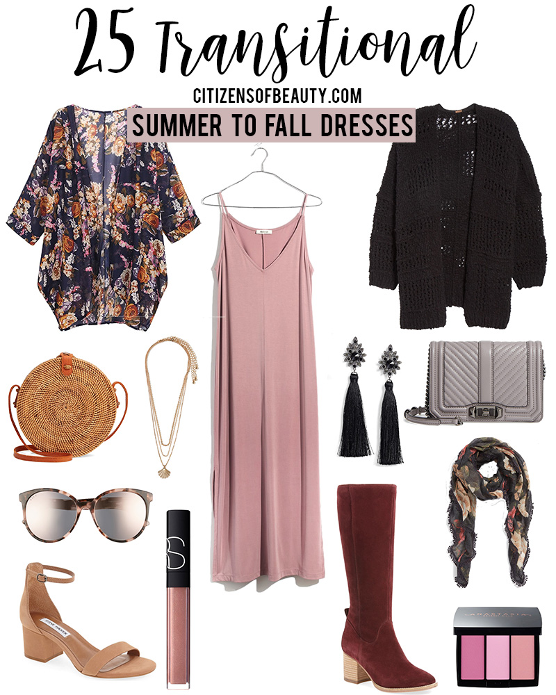 25 transitional summer to fall dresses to wear now or later with style blogger Kendra Stanton Austin, TX