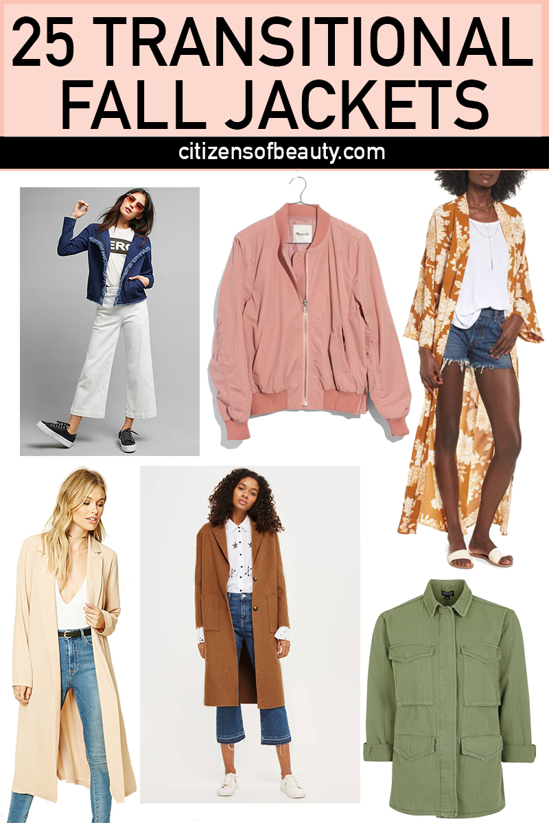 25 transitional summer to fall jackets