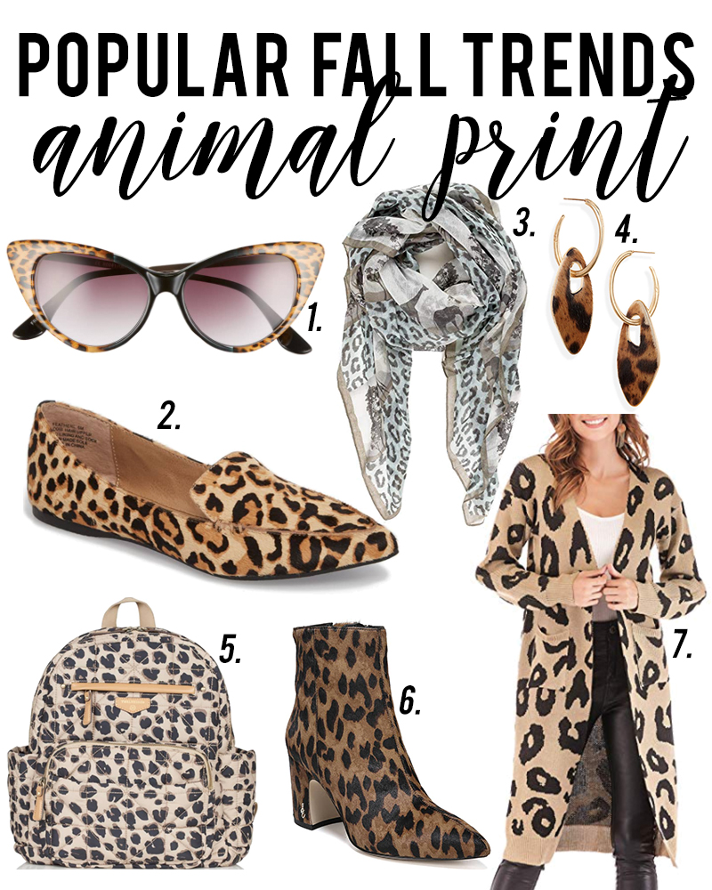 Animal print is a popular fall fashion trends to try for fall 2018. Check out all of the different ways to wear this trend with style blogger, Kendra Stanton