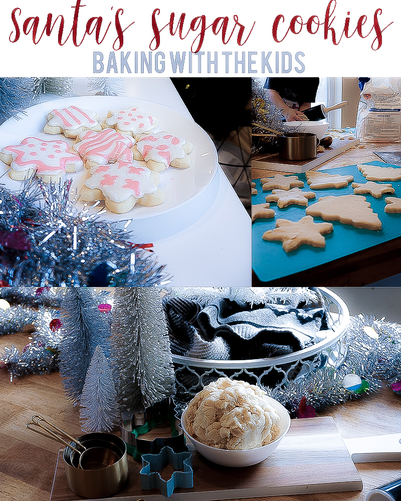Santa's easy sugar cookie recipe with beauty and lifestyle blogger, Kendra Stanton