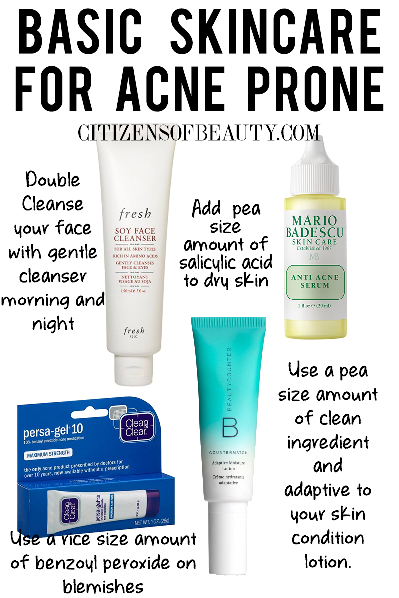 Basic Skincare Regimen for Acne prone skin