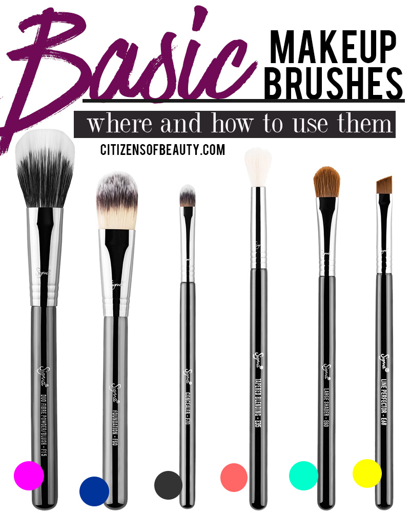 Basic makeup brushes plus where and how to use them with Austin, TX beauty blogger Kendra Stanton