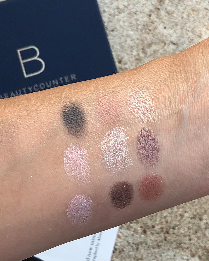 Beautycounter Romantic Eyeshadow Palette Swatches by Austin, TX Beauty blogger and makeup artist, Kendra Stanton