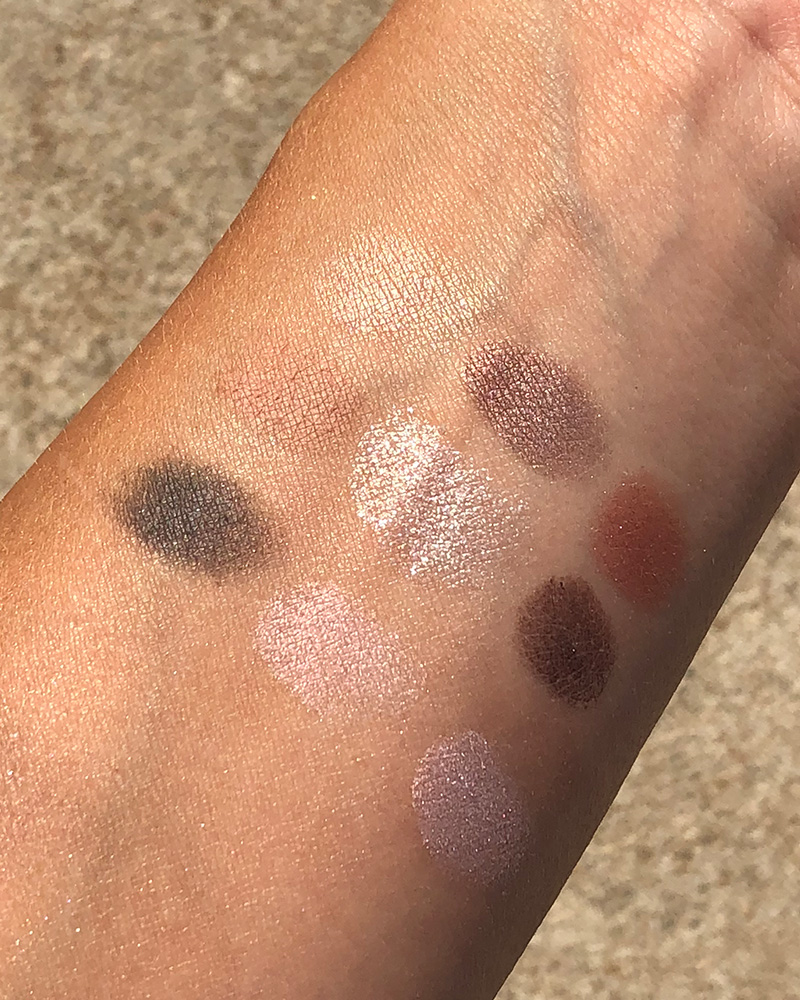 Beautycounter Romantic Eyeshadow Swatches