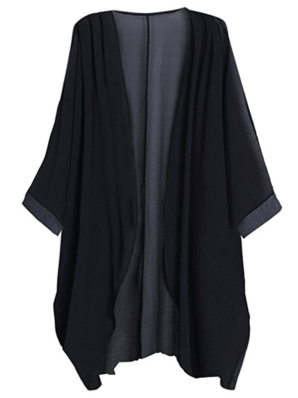Black sheer kimono on Amazon for $12.98
