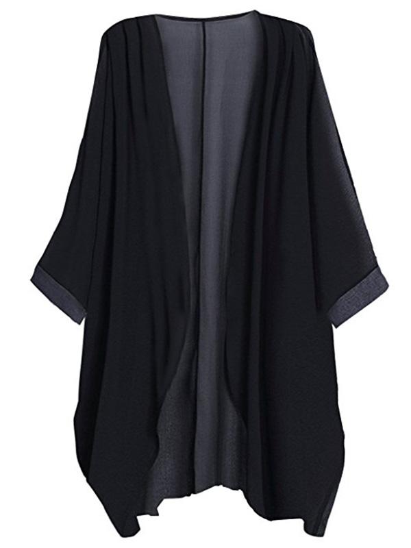 Black sheer kimono on Amazon for $12.98