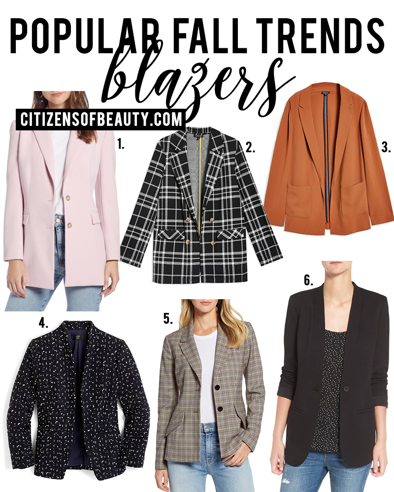 Blazers are a popular fall fashion trends to try for fall 2018. Check out all of the different ways to wear this trend with style blogger, Kendra Stanton